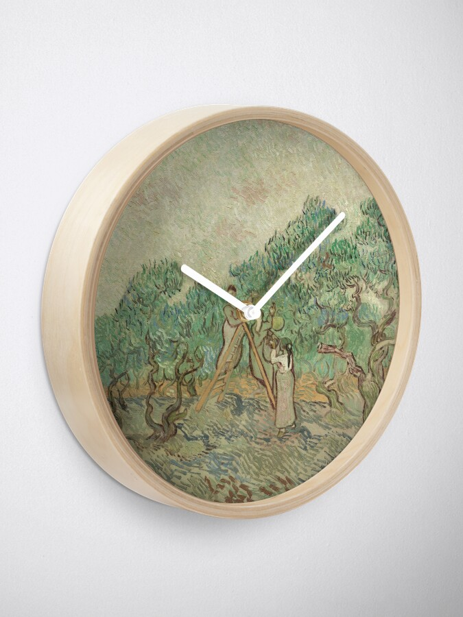 Alternate view of The Olive Orchard by Vincent van Gogh - Classic Art Clock