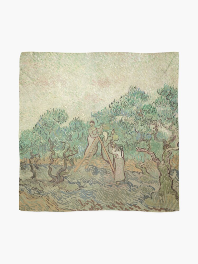 Alternate view of The Olive Orchard by Vincent van Gogh - Classic Art Scarf