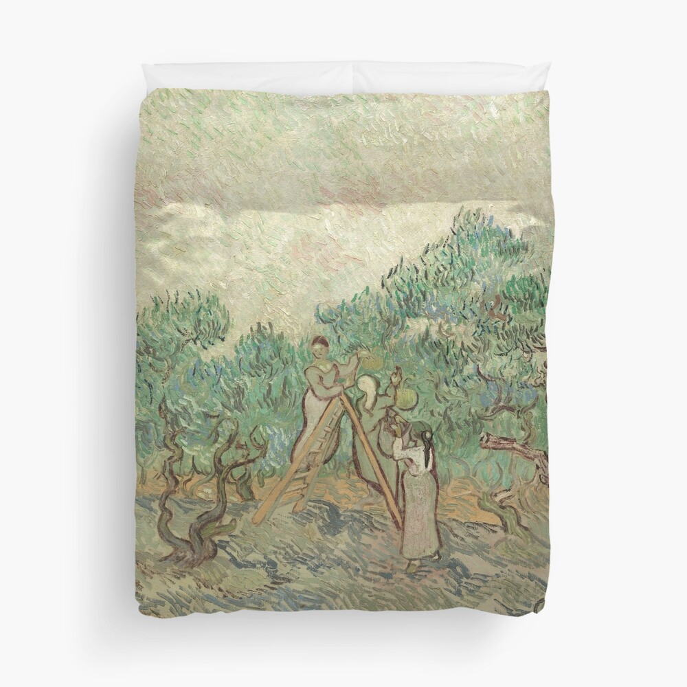 The Olive Orchard by Vincent van Gogh - Classic Art Duvet Cover