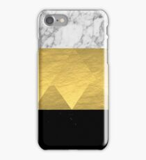 Stacked - gold foil black and marble cell phone case golden urban minimal retro modern city hipster  iPhone Case/Skin