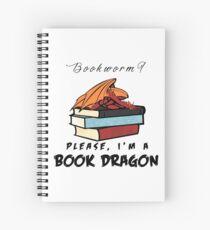 Cuaderno de espiral ¿Ratón de biblioteca? Por favor, soy un dragón de libros.