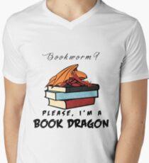 Bookworm? Please, I'm a book dragon. Men's V-Neck T-Shirt