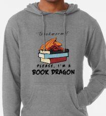 Bücherwurm? Bitte, ich bin ein Buchdrache. Leichter Hoodie