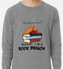 Sudadera ligera ¿Ratón de biblioteca? Por favor, soy un dragón de libros.