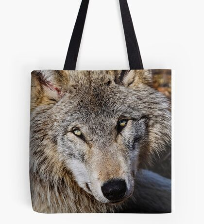 Timberwolf Portrait  Tote Bag