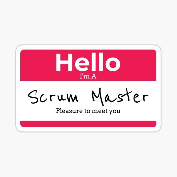 Hello, I'm a Scrum Master in Red Sticker