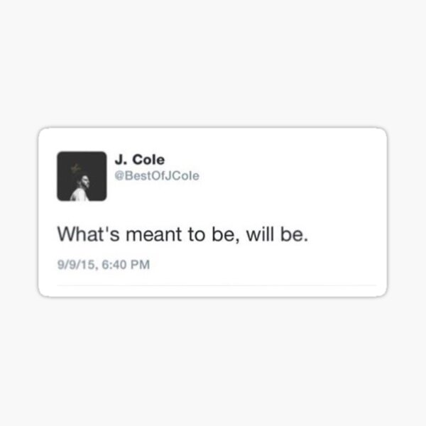 J Cole Tweet Sticker