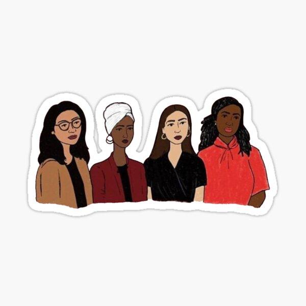 Feminist Squad Goals - AOC  Sticker