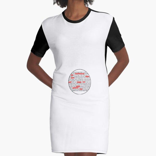 Editing Badge Graphic T-Shirt Dress