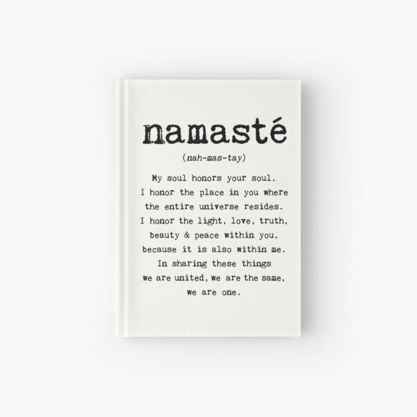 Namaste. Hardcover Journal