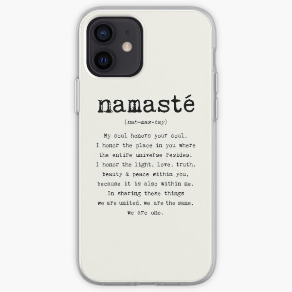 Namaste. iPhone Soft Case
