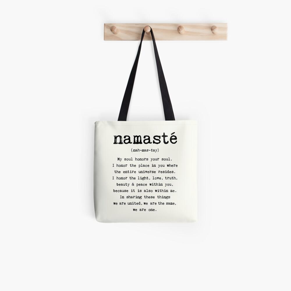 Namaste. Bolsa de tela