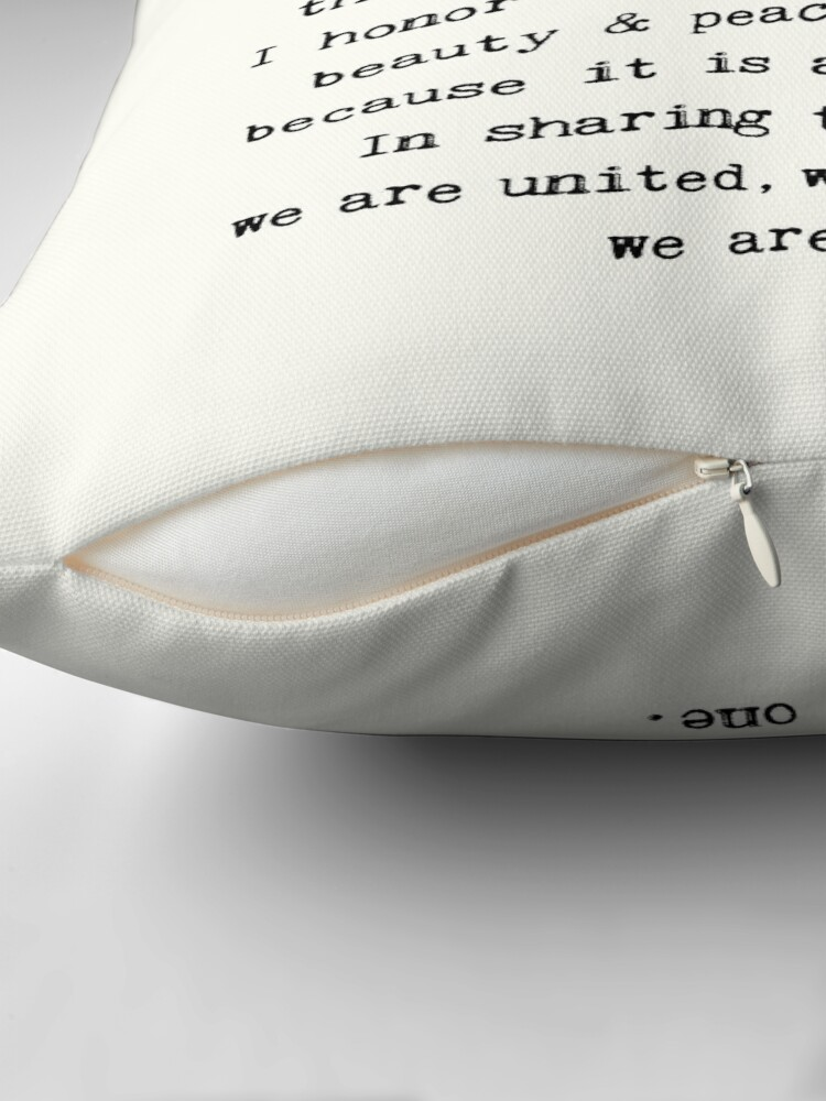Alternate view of Namaste. Throw Pillow