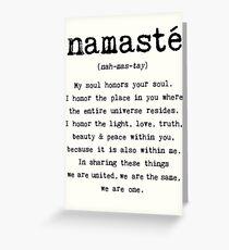 Namaste. Greeting Card
