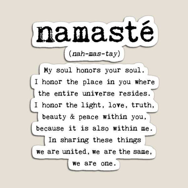 Namaste. Magnet