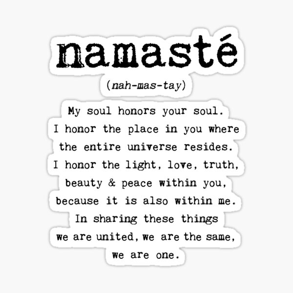 Namaste. Sticker