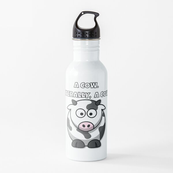 A COW.  LITERALLY, A COW. Water Bottle