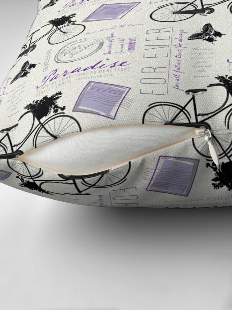 Alternate view of Just around the corner in purple Throw Pillow