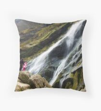 Perspective at the Powerscourt Waterfall Throw Pillow