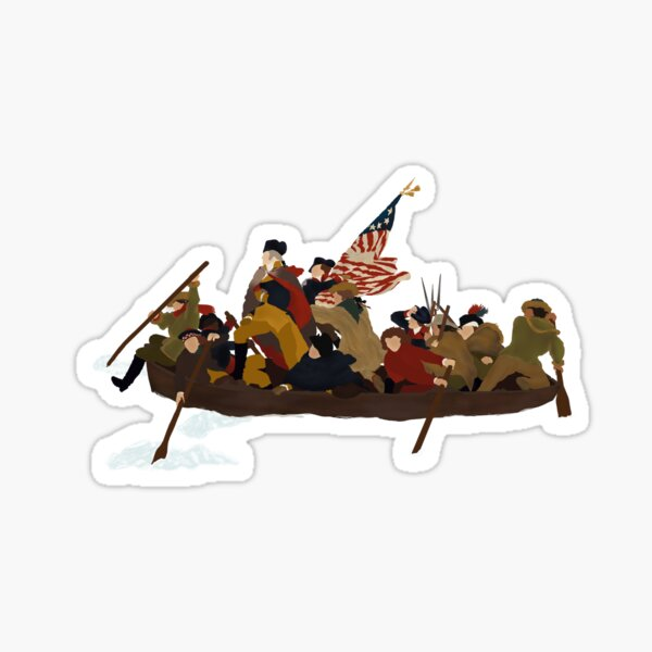 Washington crossing the Delaware  Sticker