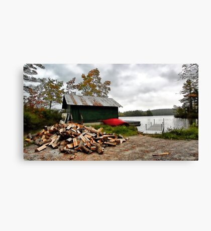 Fall at Camp - Kezar Lake,  Maine Canvas Print