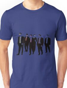 Reservoir Dogs with colored ties and glasses Unisex T-Shirt