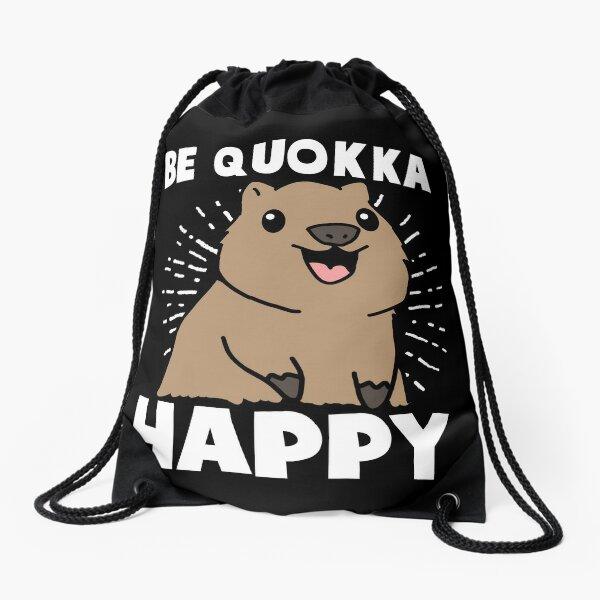 be quokka happy gift Drawstring Bag
