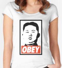 Obey Kim Jong Un Women's Fitted Scoop T-Shirt