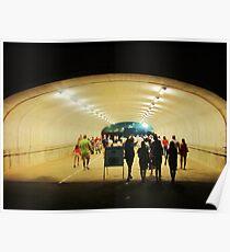 tunnel pedestrians Poster