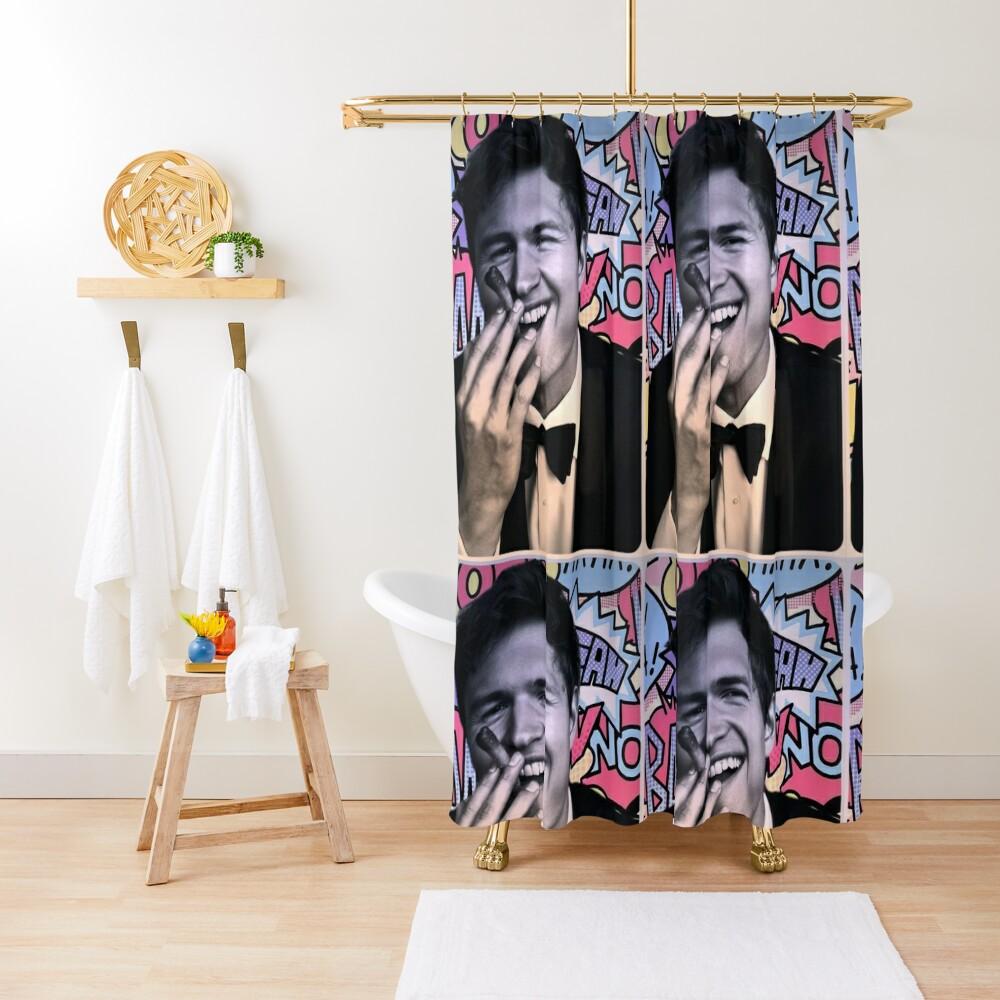 Ansel Elgort Shower Curtain