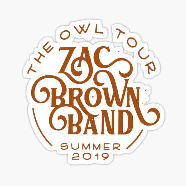 zac brown band the owl tour 2019 bedakan Sticker