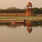 The Ferryman, Agra, India by Stephen Tapply