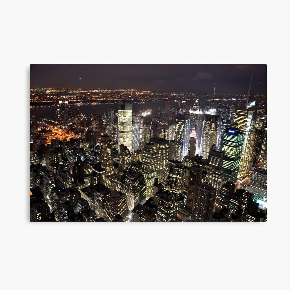 Amazing City Lights of Manhatten Canvas Print