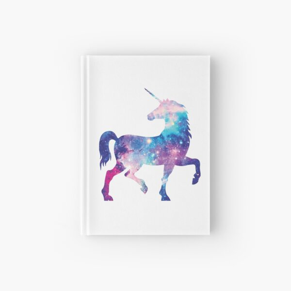 Cosmic watercolor unicorn Hardcover Journal