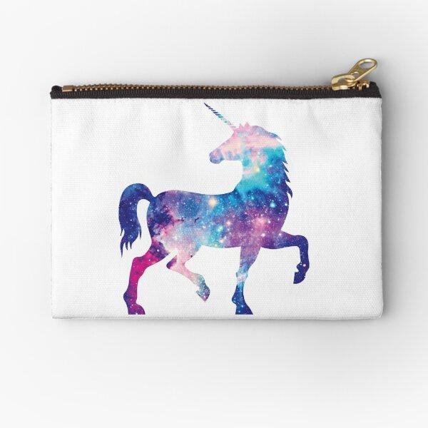 Unicornio cósmico de acuarela Bolsos de mano