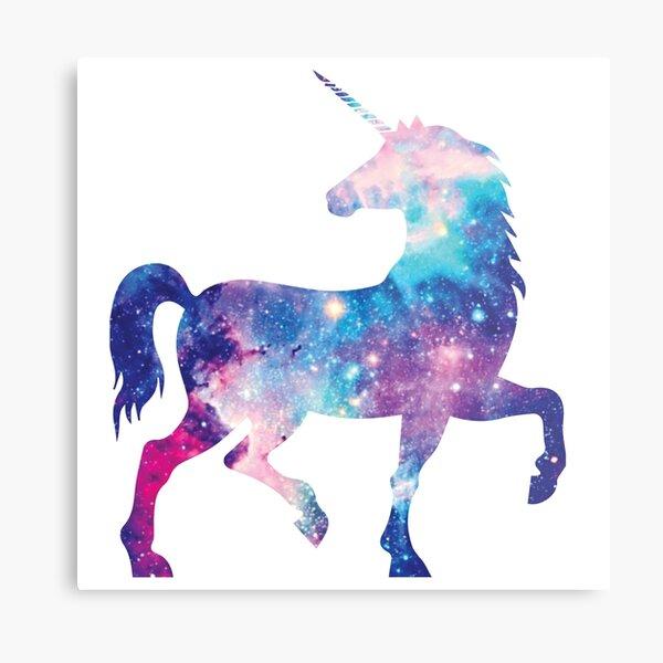 Cosmic watercolor unicorn Metal Print
