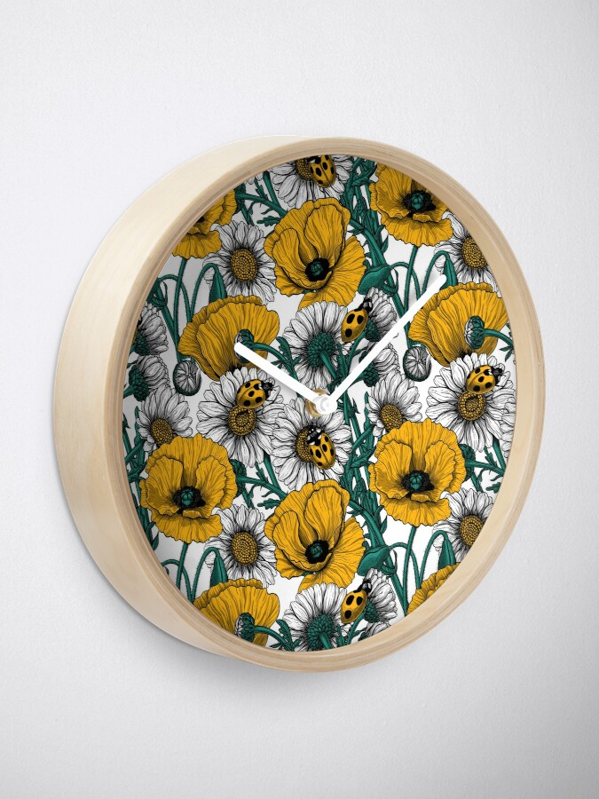 Alternate view of The meadow in yellow Clock