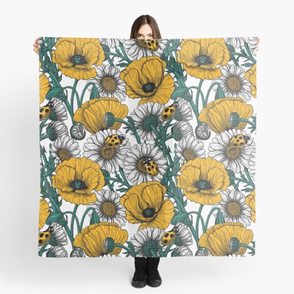 The meadow in yellow Scarf