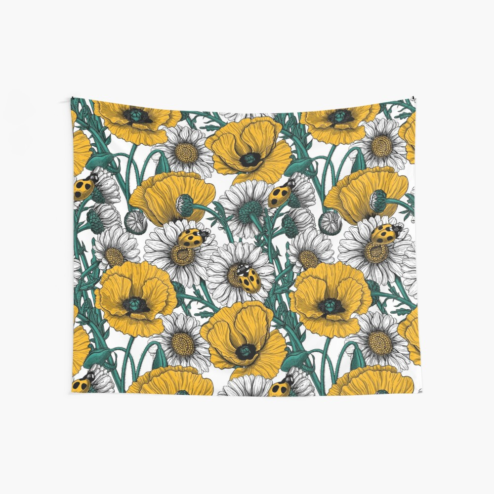 The meadow in yellow Wall Tapestry