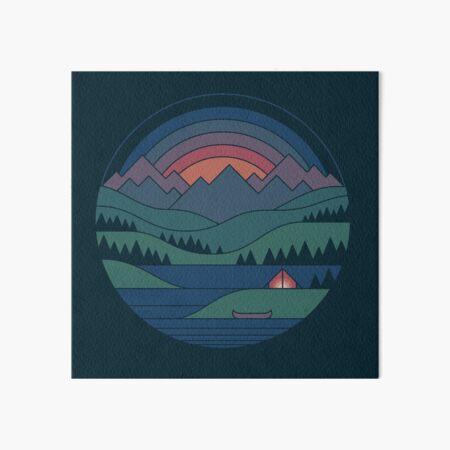 The Lake at Twilight Art Board Print