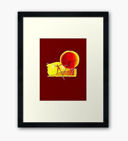 Sun Dance! Framed Print