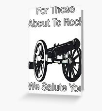 AC/DC For Those About To Rock Greeting Card