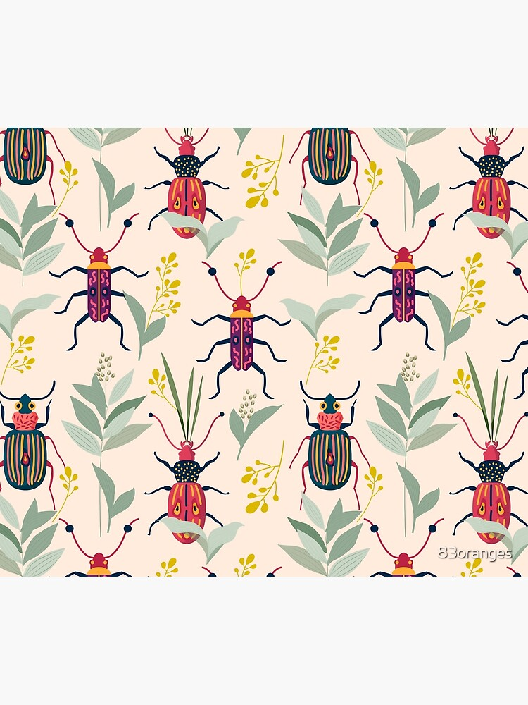 Summer Bugs #illustration #pattern  by 83oranges