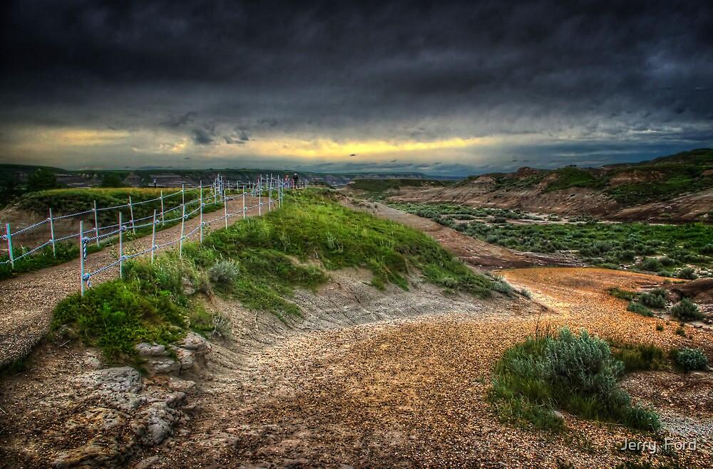 Path Through Badlands by Myron Watamaniuk