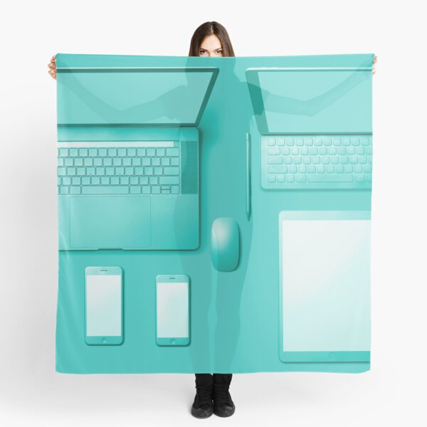Tech In Teal Scarf