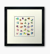Cute Animals Alphabets Framed Print