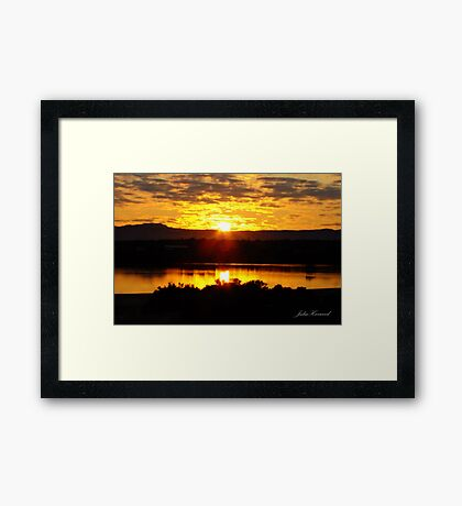 Sunrise over Port Augusta Framed Print