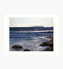 Pic Island in the Distance - Lake Superior - Marathon Ontario Canada Art Print