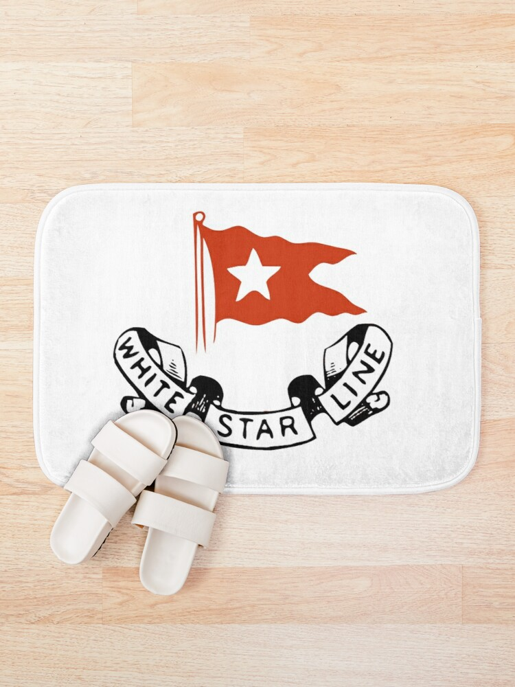 Alternate view of  White Star Line, Logo. Titanic. Bath Mat