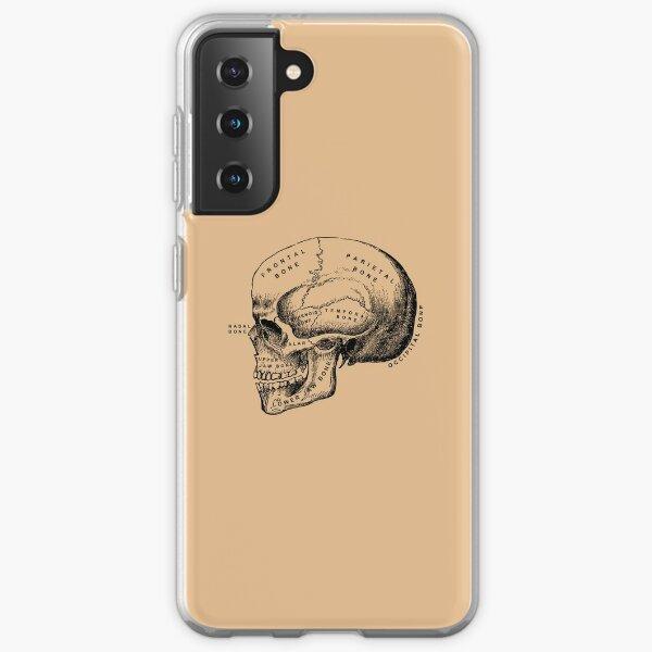 Vintage anatomical medical skull illustration Samsung Galaxy Soft Case